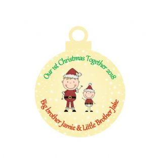 1st Christmas Together Big Brother Little Brother Acrylic Christmas Ornament Decoration
